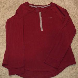 Calvin Klein long sleeve sleepwear shirt